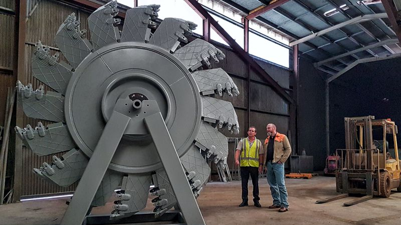 Bucketwheel Cutter after being painted