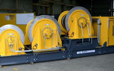 Abrasive Blasting and Industrial Coatings for Self Contained Diesel Hydraulic Triple Winch Unit